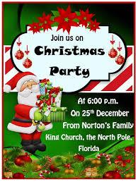 Free Christmas Invitation Template 15 Free Christmas Party Invitation Templates Ms Office