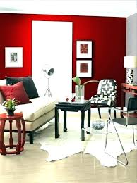 red walls in living room wall painting ideas feature
