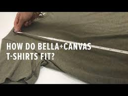 Bella Tee Size Chart How To Find The Best Fitting T Shirt For Men And Women
