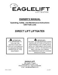 eaglelift edl series liftgate manual by the liftgate parts co issuu page 1 owner s manual operating