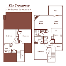 Tree house floor plans Primitive Cabin The Treehouse Peachtree Place Apartments Bed Bath Apartment In Fort Mill Sc Peachtree Place Apartments