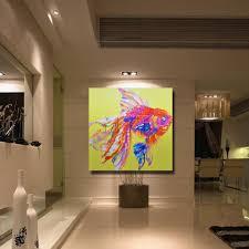 Modern Art Bedroom Aliexpresscom Buy Pretty Pink Fish Painting Modern Decoration