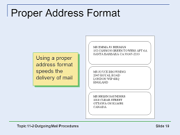 international mailing address format the office procedures and technology ppt download