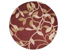 surya riley 8 round red area rug