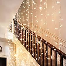 stairs light restaurant meal home lighting decoration. Ollny LED Window Curtain Icicle Lights Fairy String 8 Modes 300 LEDs For Wedding Christmas Outdoor Home Decorations Warm White(Low Voltage 3m*3m) Stairs Light Restaurant Meal Lighting Decoration R