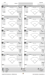 Baseball Charting Sheets Coach Submitted Charts