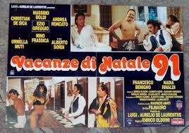 fotobusta VACANZE DI NATALE 91 Boldi Greggio Ornella Muti De Sica Sordi  Frassica