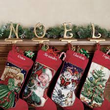 christmas stocking set. Modren Christmas N O E L Stocking Holder Set Touch To Zoom Intended Christmas Set Of Class