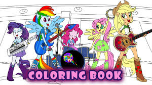 My Little Pony Coloring Book Equestria Girls Rainbow Rocks Mlp