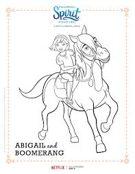 Small Picture Spirit Riding Free Abigail and Boomerang Coloring Page Spirit