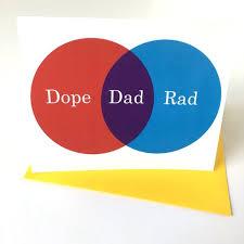 Birthday Venn Diagram Venn Diagram Dope Rad Dad Birthday Fathers Day Etsy