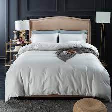 plain white grey pink blue green purple orange bedding set queen king size quilt cover bed sheets 100 cotton textiles bedding and linens bedroom duvet sets