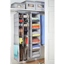 grey fabric closet organisers