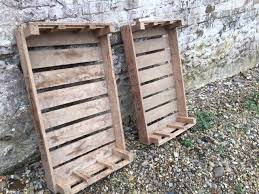 3 each large number of vintage wooden trays