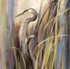 b heighton stretched canvas art coastal heron medium 24 x 24 inch wall art decor size com