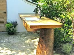 outdoor sink tables table with sinks amazing chic garden com and