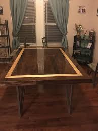 picture of dining table top from hardwood flooring