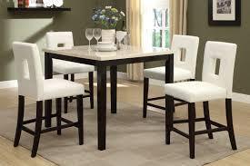 Savona 5-Piece Cream/Rich Brown Counter Height Dining Set [F2338 ...