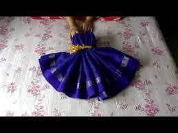 Saree Tray Decoration How to make Women Dress using a Saree Wedding Tray Decoration YouTube 8