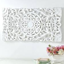white carved wood wall decor uk