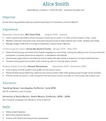 Samples Of Teaching Resumes Teachers Sample Resume Teacher Resume