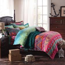modern paisley print duvet covers fashion exotic boho bedding elegant striped bed sheet set
