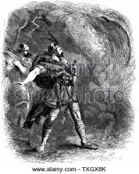 Illustration Of The Three Witches Macbeth And Banquo Tales From