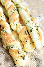 homemade parmesan garlic herb breadsticks