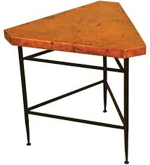 Metal Base End Table with Copper