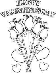 Small Picture Happy Valentines Day Flowers Coloring Page Free printable