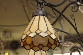 image of antique stained glass chandelier