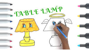 Table Lamp Drawing And Coloring Easy Things To Draw Coloring Pages For Kids