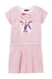 Catimini Girl Graphic Striped Dress Little Girls Big Girls Nordstrom Rack