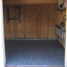 shed floor 2 coats gray