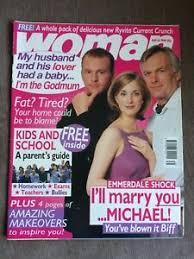 WOMAN magazine 24/08/1998 EMMERDALE Michael Jackson Claire Sweeney Anna  Brecon | eBay