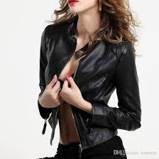 y leather jacket women faux leather jackets autumn coats female overcoat outwear black large size s 2xl new fashion womens leather er jacket jackets