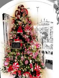 How To Decorate A Candy Cane Christmas Tree Marvellous Design Peppermint Christmas Tree Decorations Candy 58