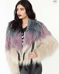 coat nastygal faux fur jacket ombre trendy new year s eve winter outfits winter outfits