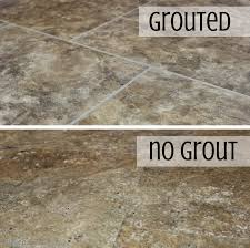 vinyl tile grout l v t can be installed grouted