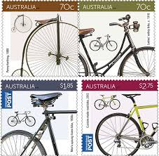 australian made bicycles featured on postage stamps