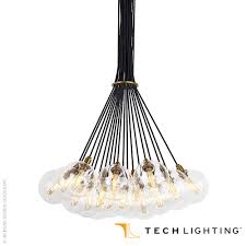 gambit 19 light led chandelier tech lighting
