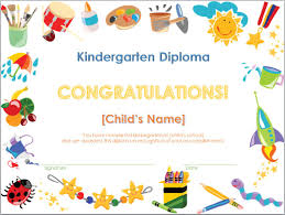 Kindergarten Awards Certificates Under Fontanacountryinn Com