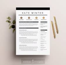 Etsy Resume Template Mesmerizing Resume Template 28 Pages CV Template Cover Letter For MS Etsy