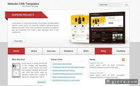 Website Layout Template Beauteous 28 Free HighQuality XHTML And CSS Web Layout Templates Ginva