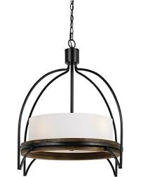 cal lighting chardon metalwood chandelier with glass shade ironwood dark cal lighting wood chandelier