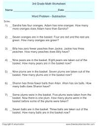 First Grade Math Problem Solving Co Worksheets Book Report At ...