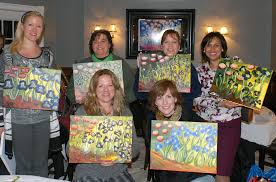 paint the night away on glass at your favorite venue or have a private party in your home a set of 2 wine gl