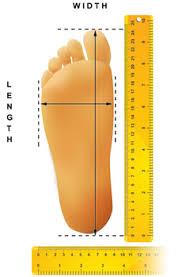 62 Punctilious Foot Measurements Chart