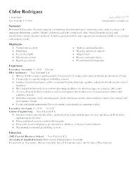 Examples Of Administrative Resumes