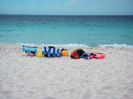 beach towels on sand. Download Colorful Beach Towels, Chairs And Balls On White Sand Stock Photo - Image Towels O